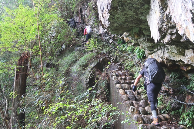 粟谷小屋を目指して登山の開始