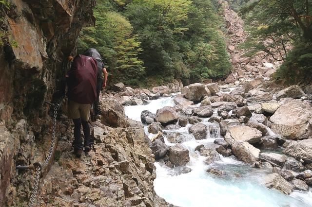 大杉谷ルート登山者4人