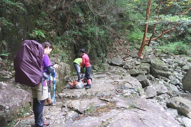 大杉谷渓谷ルートのんびり休憩できるポイント
