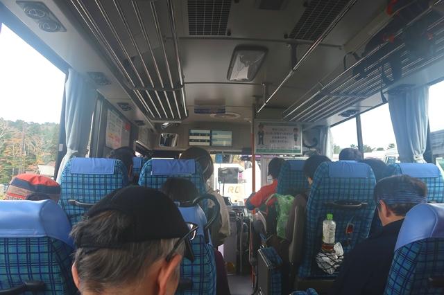 大台ヶ原登山帰りのバス