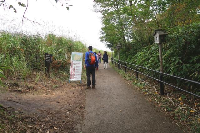 お亀池(俱留尊山)の登山道入口