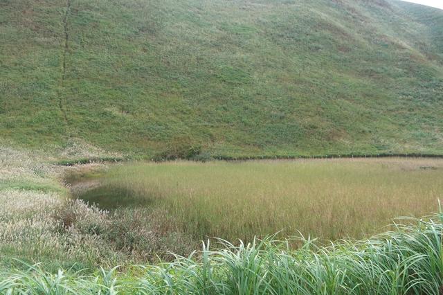 お亀池先日の大雨で増水