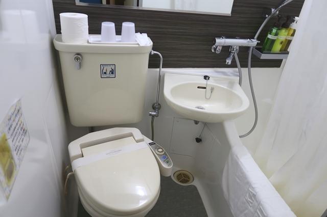 橿原シティホテルのトイレとバスルーム(お風呂)