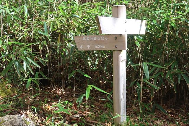 作場平の笠取山登山口