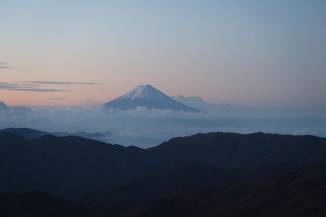 笠取山からの富士山の景色