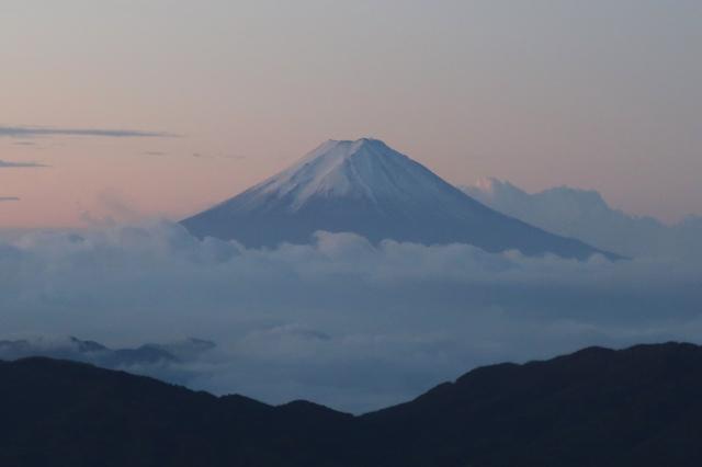 >笠取山からの富士山