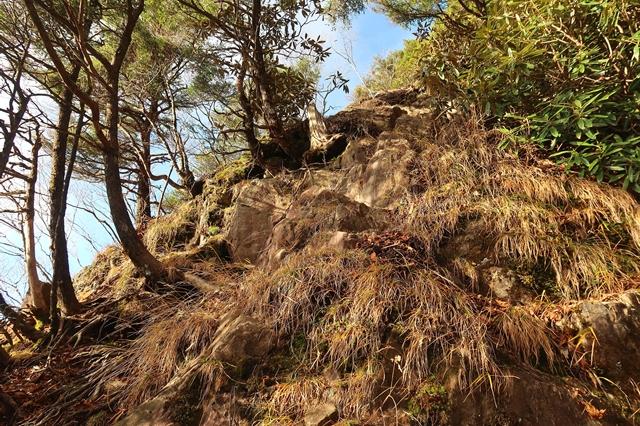 黒槐山から唐松尾山へのルート