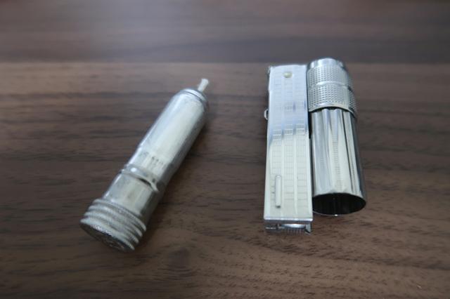 オイルライターの本体のお尻の部分分解