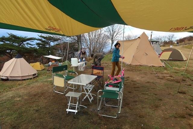 陣馬形山キャンプ場に到着