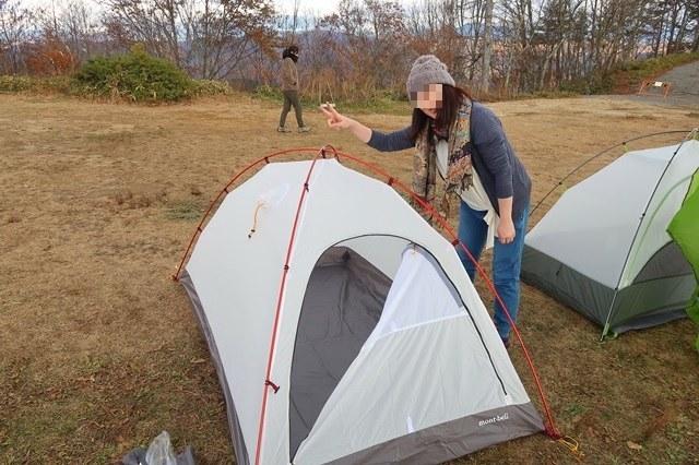 初のテント泊