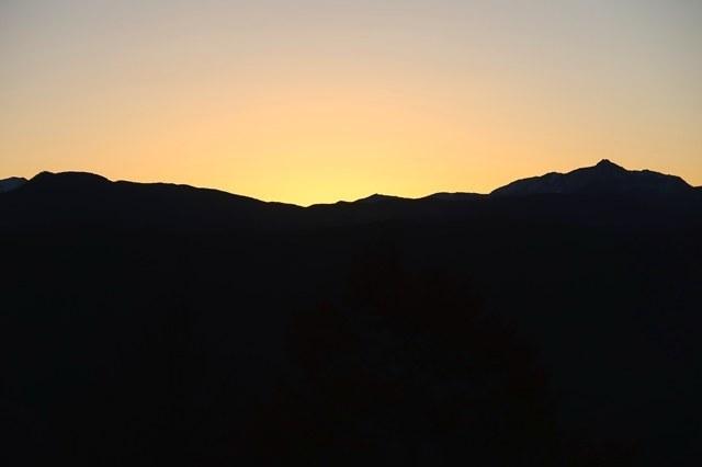 仙塩尾根日の出