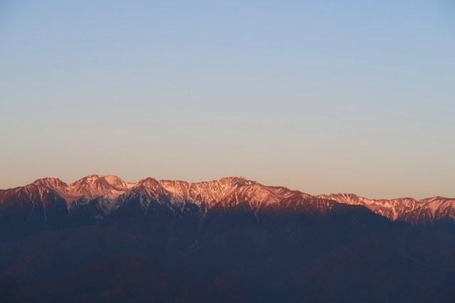 陣馬形山夜明け