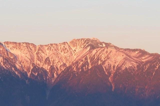 空木岳も茜色