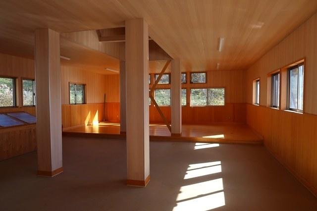 陣馬形山荘の寝室