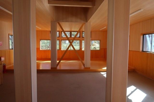 陣馬形山荘避難小屋内部