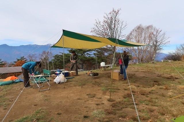 テント・タープの撤収