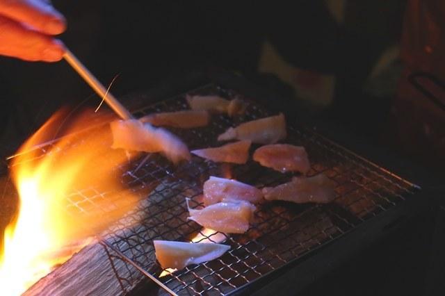 キャンプ料理焼肉