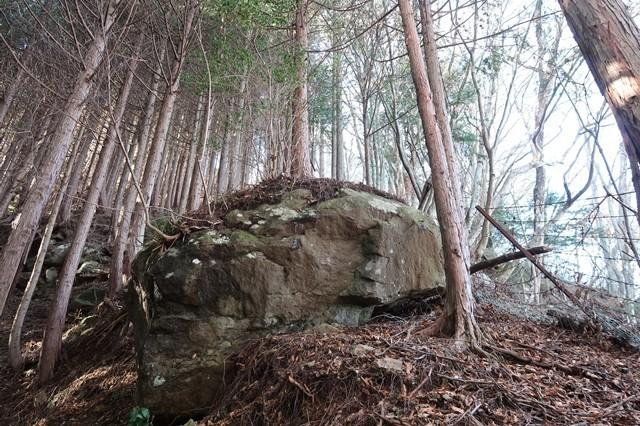 栂立ノ頭の前衛で大きな岩