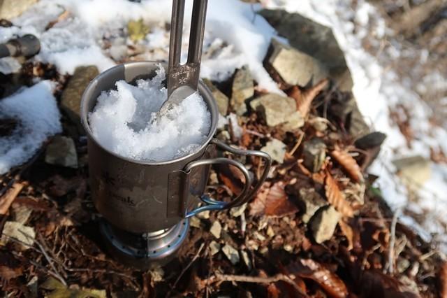 アルコールストーブでから水を作る