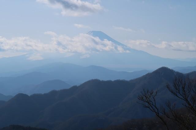 丹沢山からの富士山の景色