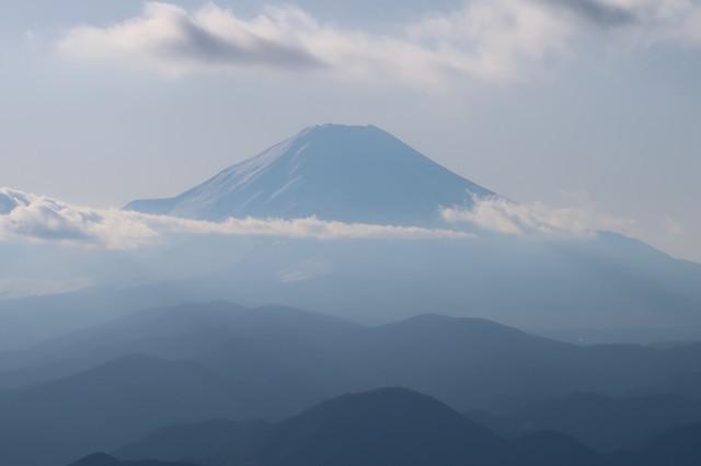 日高から富士山の景色