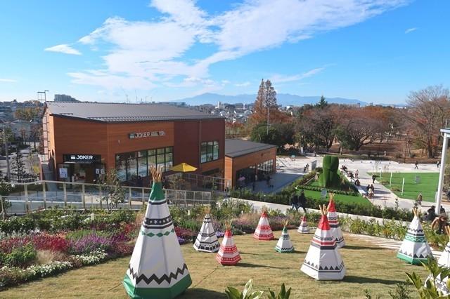 南町田グランベリーパーク内に丹沢を見渡せるエリア