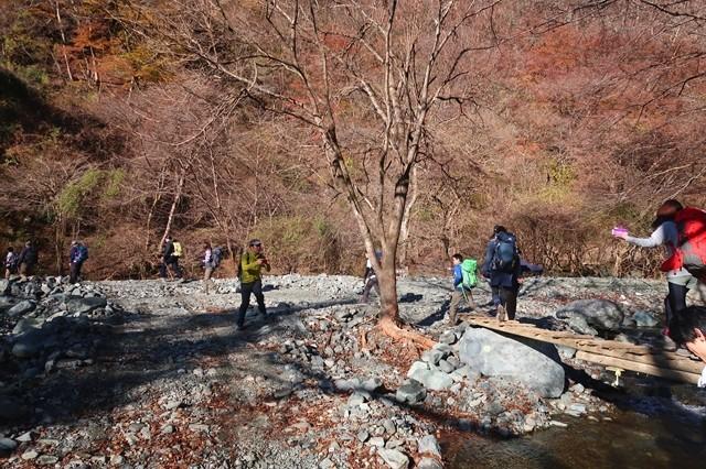 丹沢二俣の登山者