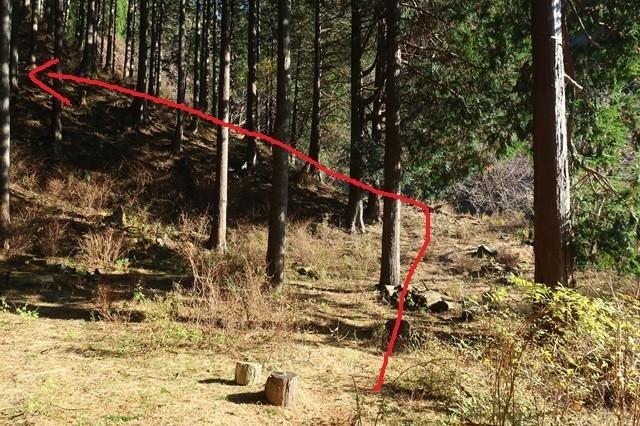マルガヤ尾根の取り付き地点