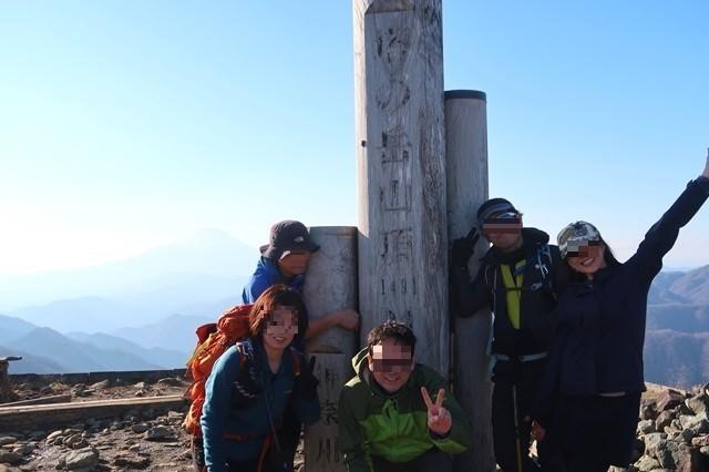 丹沢登山オフ会最高峰の塔ノ岳山頂