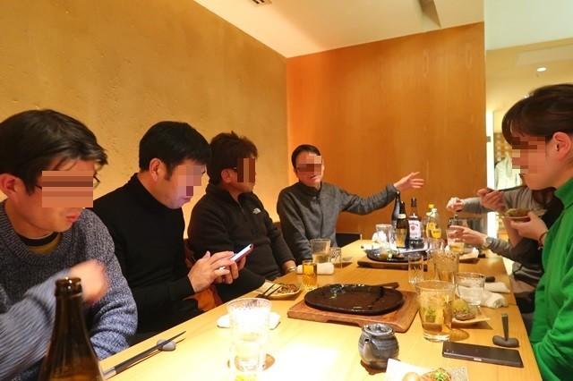 西新宿の響で行った当ブログの忘年会の様子