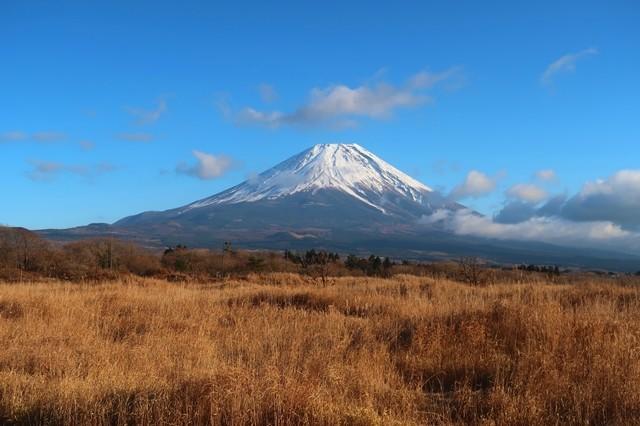 朝霧高原富士山景色