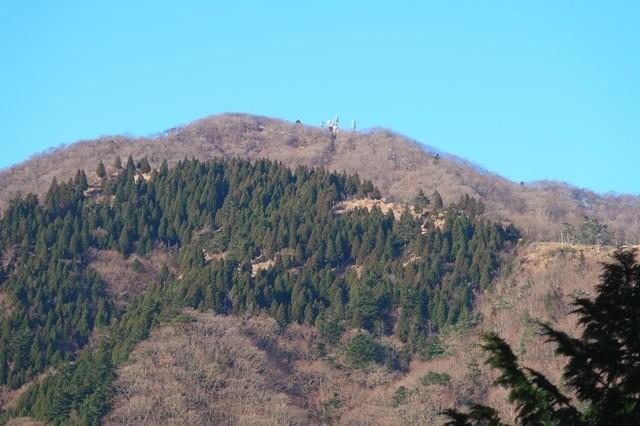 目指す大山の山頂