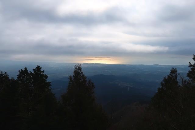 大山からの相模湾の景色