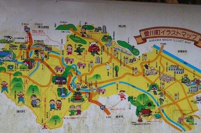相州アルプス周辺の案内図