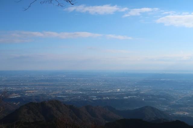 関東平野を一望大山