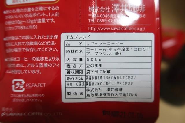 澤井珈琲の珈琲豆福袋使われている銘柄ブラジルとホンジュラス