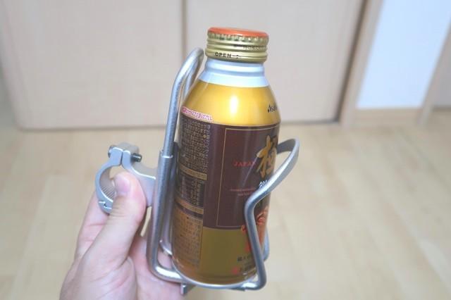 缶のデザインを気にしなくて良いオートバイ用カップフォルダー