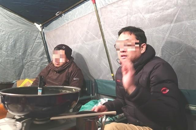 キャンプ中の会話