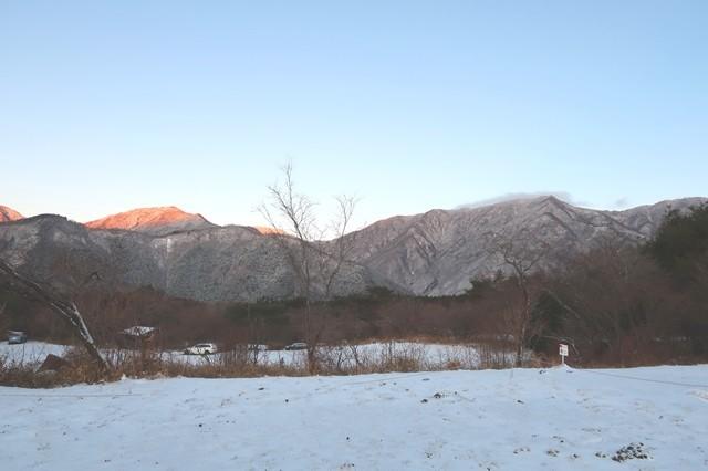 朝霧ジャンボリーオートキャンプ場周辺積雪具合