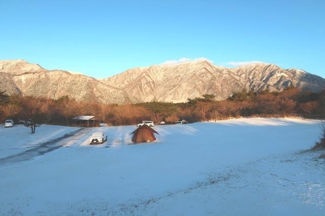 朝霧ジャンボリーオートキャンプ場景色が良い