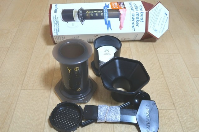 エアロプレスコーヒーメーカーの道具の詳細