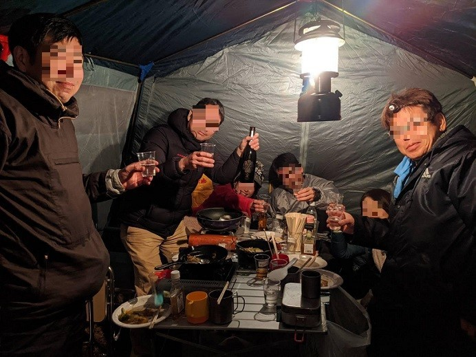 日本酒で盛り上がり