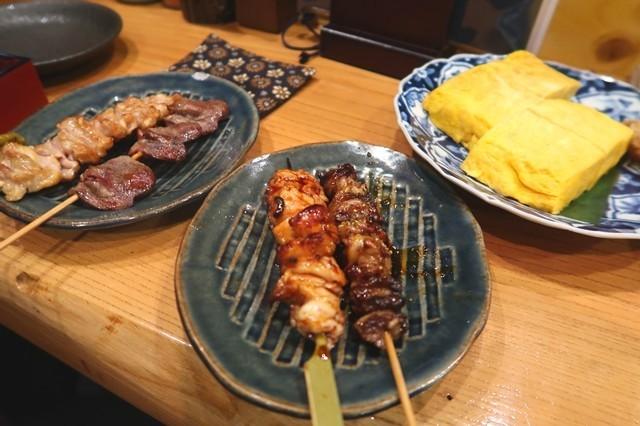 うえちゃん名物の串焼き(焼き鳥)