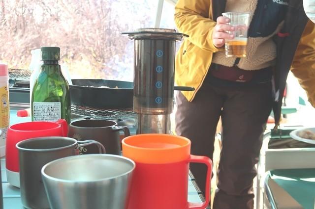エアロプレスコーヒー使用後の状態