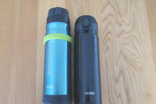 サーモス山専ボトルとサーモスケータイマグ JNL-504と比較