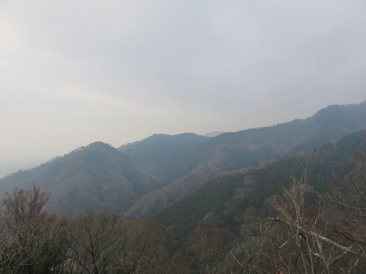 鐘ヶ岳周辺からの大山方面の景色