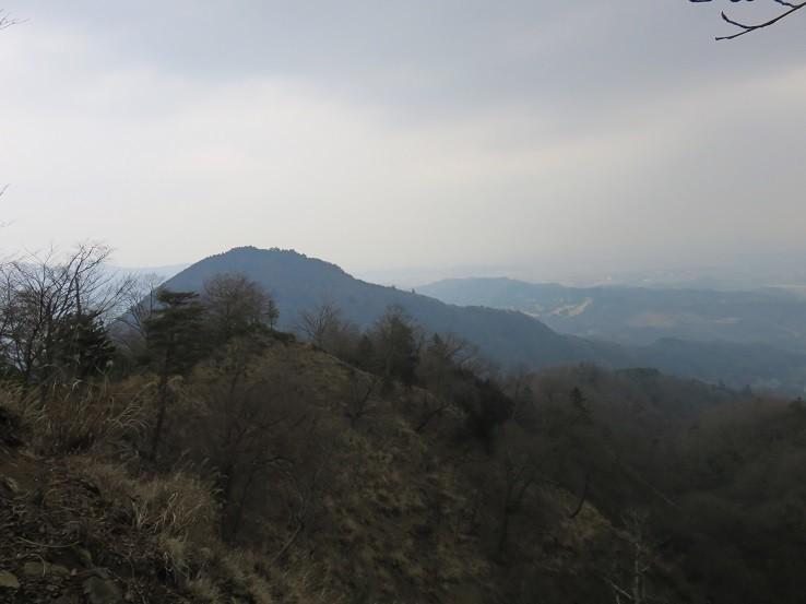 中弁天からの景色鐘ヶ嶽