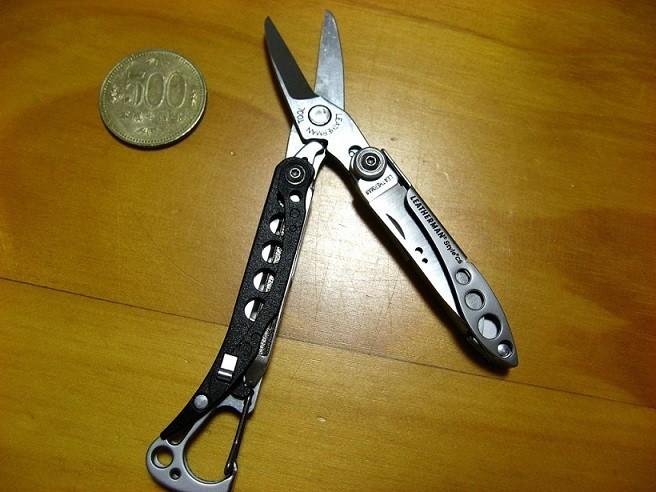 ツールナイフ刃渡りの様子