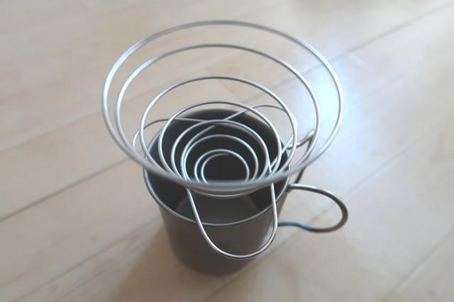コーヒーバネットカップの上にセット