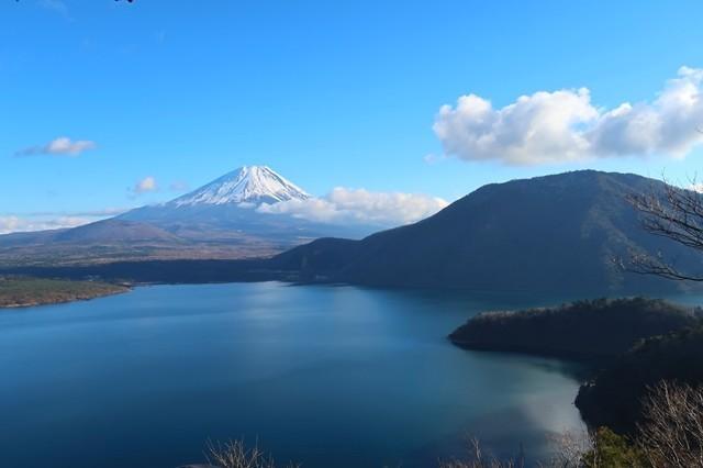 あさぎり温泉風の湯近くからの富士山の景色